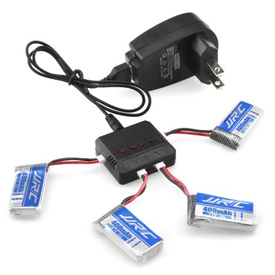 JJRC Battery Charging Set 3.7V 400mAh LiPo + Balance Charger with Adapter / Cable