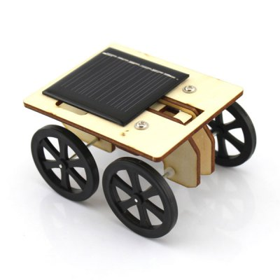 DIY Wooden Solar Powered Car