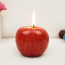 Christmas Decoration Simulation Apple Candle 1pc