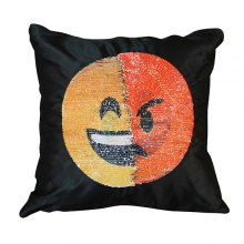 HESSION Sequin Pillowcase Changeable Mood Cushion Cover