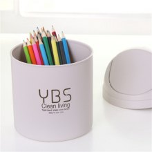 Mini Desktop Trash Can Small Storage Box with Swing Lid 1PC