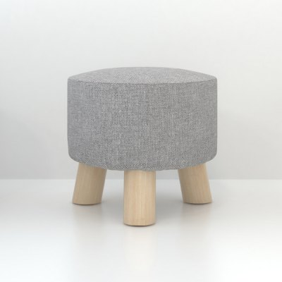 Solid Wood Stool Small Round Sofa Footstool