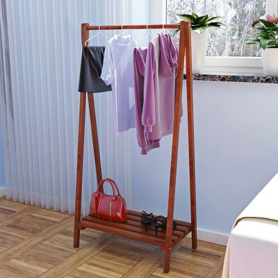 Solid Wood Clothes Hanger Storage Rack
