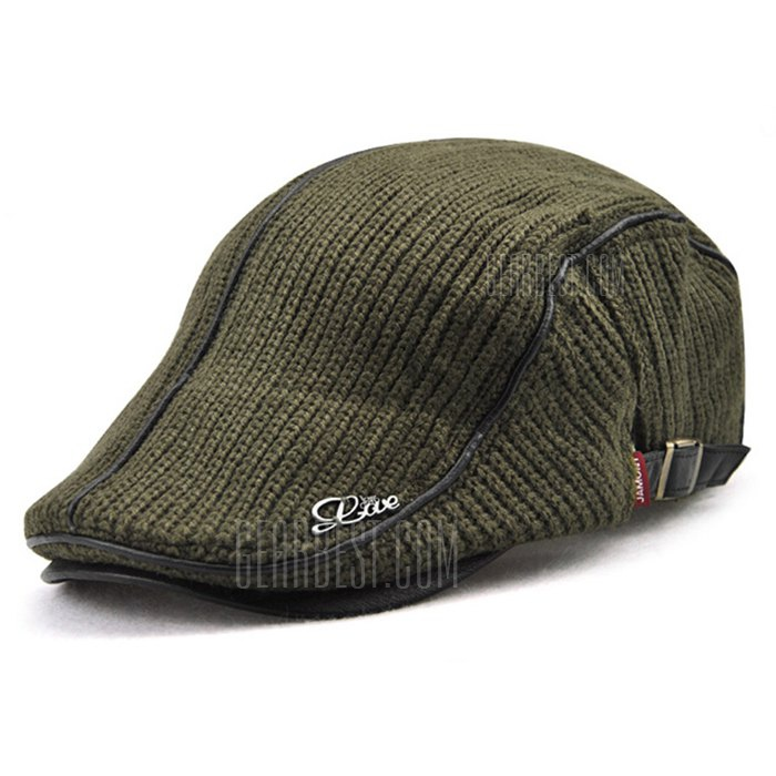 JAMONT Thicken Keep Warm Knitted Peaked Cap for Men