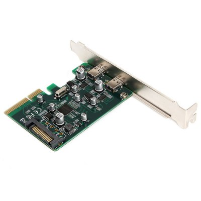 PCI-E 4X to USB 3.1 Type-C Dual Ports Expansion Card