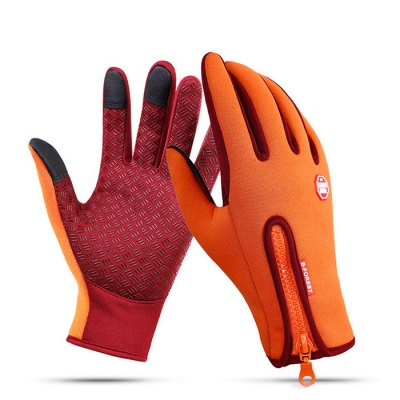 Pair of Full-finger Touch Screen Warm-keeping Gloves