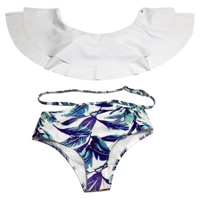Tiered Flounce Off Shoulder Bikini Two-piece Swimsuits