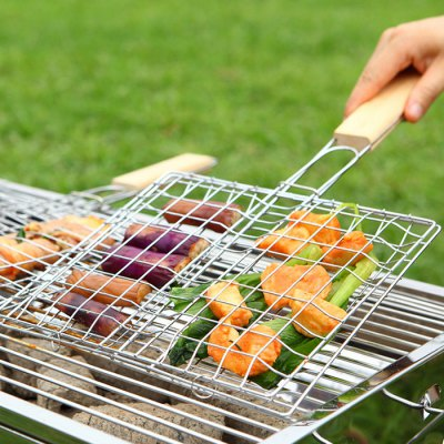 Multifunction Extendable Iron Wire Barbecue Grill Basket