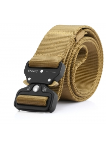 Male Outdoor Tactical Training Nylon Belt with Cobra Buckle