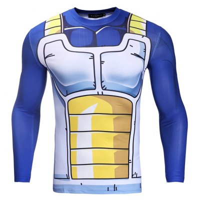 CTSmart JSY002 Male 3D Printing Breathable Running Tee
