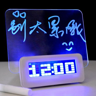 Alarm Projection Clock Mute Luminous with Message Board