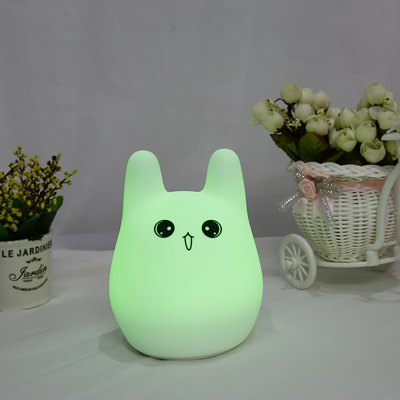 7-Color Lovely Silicone Rechargeable Night Light