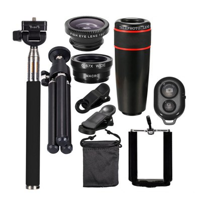 10-in-1 Mobile Photography Kit Selfie Stick Tripod