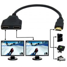 HDMI 1 To 2 Splitter Cable Male To Female M/F 1 In 2 Out Adapter Converter For HDMI Adapter