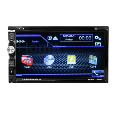 6063 6.95 inch Double Din Car Auto Radio Stereo DVD Player