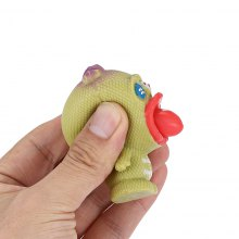 Novelty Tricky Vent Anti-stress Squeeze Spit Tongue Doll Toy