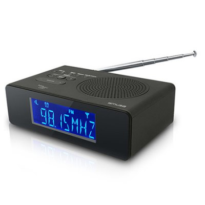 Muse M-195 CDB Reloj Digital Negro radio