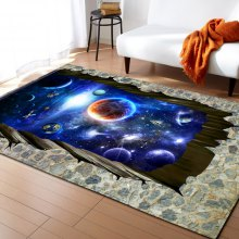 Universe Planet Pattern Living Room Carpet