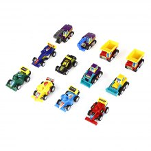 Mini Assorted Pull Back Construction Vehicles Racer Cars 12pcs