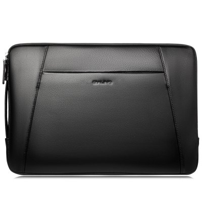 QIALINO Multi-interlayer Leather Laptop Protective Bag