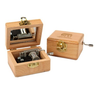 Wooden Music Box Toy Birthday Gift Decoration
