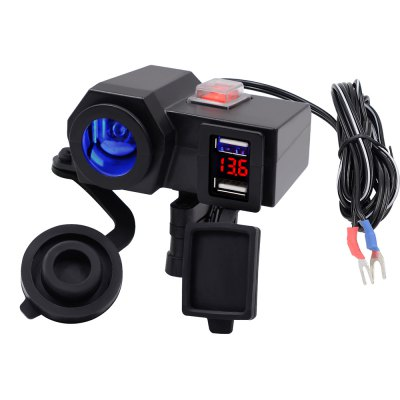 Dual USB 4.2A 12 - 24V Voltmeter Phone Charger