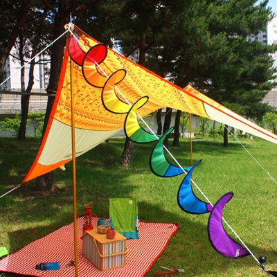 Outdoor Rainbow Wind Spinner Hanging Ornament