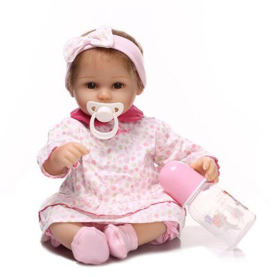 Soft Silicone Reborn Baby Doll Gift Pretend Play Toy