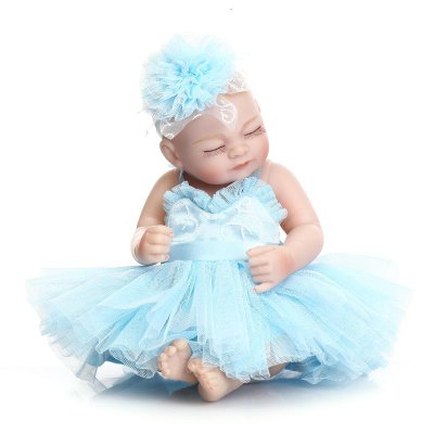 Cute Mini Simulation Soft Silicone Baby Doll Toy