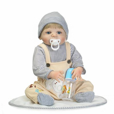 Full Silicone Emulate Reborn Baby Doll Kids Toy Gift