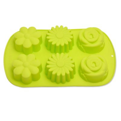 6-flower Silicone Chocolate Cake Molds