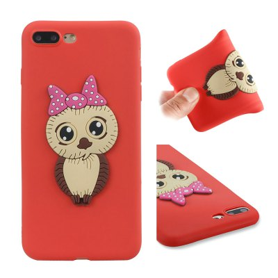 Dirt-proof Owl Pattern Back Cover for iPhone 7 Plus / 8 Plus