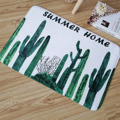 Absorbent Polyester Floor Mats Cactus Style Carpets