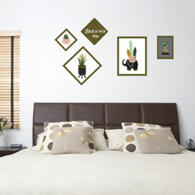 Creative Green Plants Wall Sticker 1pc
