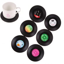 Retro Microgroove Anti-skid Thermal Insulation Cup Mat