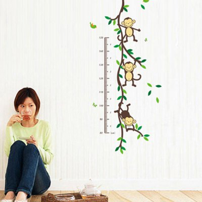 PVC Height Wall Sticker Monkey Style Mural Decal