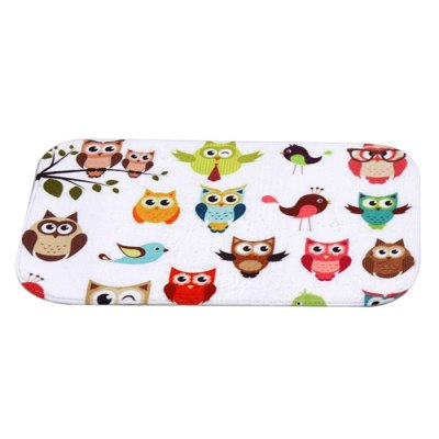 Creative Anti-skid Lovely Owl Floor Mat