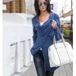 Knitted Button Asymmetric Cardigan deal