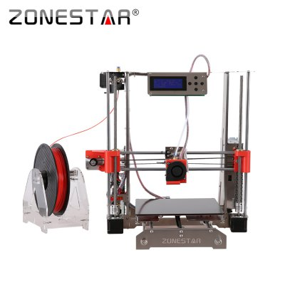 Zonestar P802Q Reprap Prusa I3 DIY 3D Printer Kit3D Printers, 3D Printer Kits<br>Zonestar P802Q Reprap Prusa I3 DIY 3D Printer Kit<br><br>Brand: ZONESTAR<br>Certificate: CE,FCC,RoHs<br>File format: STL, OBJ, G-code<br>Layer thickness: 0.1-0.36mm<br>LCD Screen: Yes<br>Material diameter: 1.75mm<br>Memory card offline print: SD card<br>Nozzle diameter: 0.4mm<br>Package size: 48.00 x 45.00 x 20.00 cm / 18.9 x 17.72 x 7.87 inches<br>Package weight: 8.0500 kg<br>Packing Contents: 1 x Zonestar P802Q 3D Printer DIY Kit<br>Packing Type: unassembled packing<br>Print speed: 150mm/s<br>Product forming size: 220 x 220 x 240mm<br>Product size: 46.00 x 42.00 x 42.00 cm / 18.11 x 16.54 x 16.54 inches<br>Product weight: 7.6000 kg<br>Supporting material: Flexible PLA, PLA, PVA, PETG, Wood, ABS<br>System support: Windows,  Mac.,  Linux<br>Type: DIY<br>XY-axis positioning accuracy: 0.012mm<br>Z-axis positioning accuracy: 0.0025mm