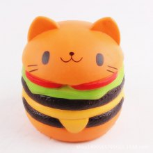 Cute Burger Cat Ultra Soft PU Foam Squishy Toy
