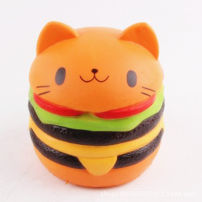Squishy Hamburger Cat : Cute Burger Cat Ultra Soft PU Foam Squishy Toy -  USD7.55 Online Shopping GearBest.com