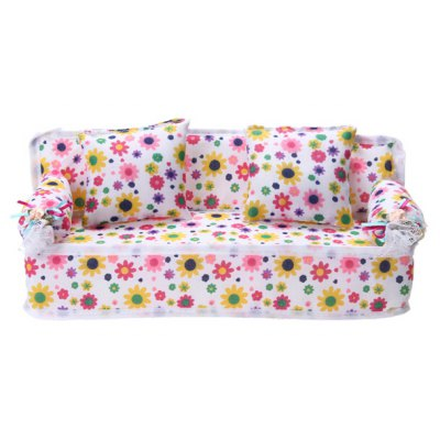 Lifelike Fabric Sofa for Doll Toy