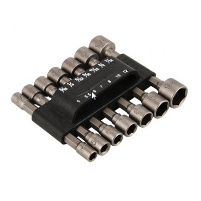 14PCS Hex Non-magnetic Socket Nut for Drill Bit