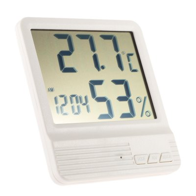 CX - 301 Indoor LCD Electronic Temperature Humidity MeterOther Consumer Electronics<br>CX - 301 Indoor LCD Electronic Temperature Humidity Meter<br><br>Operating Humidity: 10 - 99pct RH<br>Operating temperature : -50 - 70 Deg.C<br>Package Contents: 1 x Thermometer Hygrometer, 1 x English / Chinese User Manual<br>Package size (L x W x H): 17.50 x 13.20 x 3.00 cm / 6.89 x 5.2 x 1.18 inches<br>Package weight: 0.1600 kg<br>Product size (L x W x H): 10.60 x 9.80 x 2.30 cm / 4.17 x 3.86 x 0.91 inches<br>Product weight: 0.0860 kg<br>Type: Indoor Thermometer
