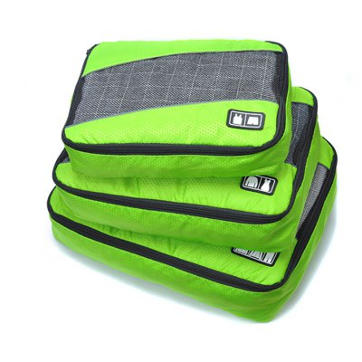 3PCS Different Sizes Portable Nylon Travel Storage Bag Pouch