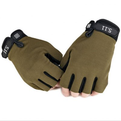Pair of Male Half-finger Adjustable Breathable Sports Gloves