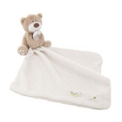Baby Soft Plush Towel with Cartoon Bear