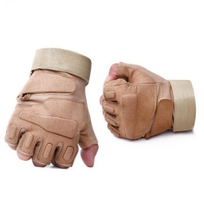 Pair of Male Half-finger Shockproof Cycling Sports Gloves