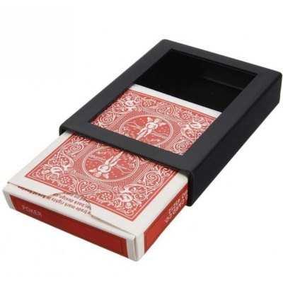 Close-up Magic Trick PVC Vanishing Poker Case Fun Box