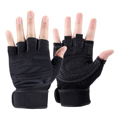 Pair of Male Half-finger Anti-shock Cycling Sports Gloves